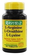 Good 'N Natural - L-Arginine L-Ornithine L-Lysine - 50 Tablets, from category: Nutritional Supplements