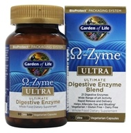 Garden of Life - Omega Zyme Ultra Ultimate Digestive Enzyme Blend - 90 Vegetarian Capsules