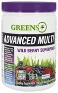Greens Plus - Advanced Multi Powder Wild Berry - 9.4 oz. Formerly Wild Berry Burst