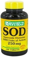 Good 'N Natural - SOD Superoxide Dismutase 2000 Units of Activity 250 mg. - 100 Tablets by Good 'N Natural