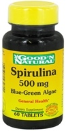 Good 'N Natural - Spirulina 500 mg. - 60 Tablets (074312432811)