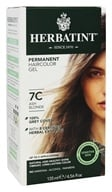 Herbatint - Herbal Haircolor Permanent Gel 7C Ash Blonde - 4.5 oz. (666248001256)
