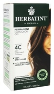 Herbal Haircolor Permanent Gel 4C Ash Chestnut - 4.5 fl. oz. by Herbatint