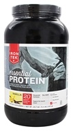 Iron Tek - Essential Natural High Protein with Micellar Casein Vanilla Cake - 2.1 lbs. by Iron Tek