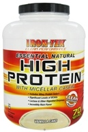Image of Iron Tek - Essential Natural High Protein with Micellar Casein Vanilla Cake - 5.5 lbs.