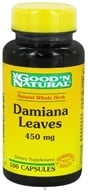 Good 'N Natural - Damiana Leaves 450 mg. - 100 Capsules, from category: Herbs