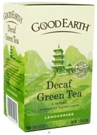 Good Earth Teas - Green Tea Lemongrass Decaffeinated - 18 Tea Bags (027018302575)