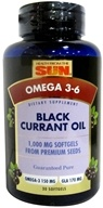 Image of Health From The Sun - Black Currant Oil 1000 mg. - 30 Capsules