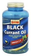 Health From The Sun - Black Currant Oil From Premium Seeds 500 mg. - 180 Mini Softgel(s)
