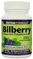 Jarrow Formulas - Bilberry + Grapeskin Polyphenols 280 mg. - 60 Vegetarian Capsules, from category: Herbs