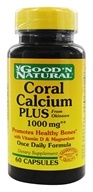 Good 'N Natural - Coral Calcium Plus with Vitamin D & Magnesium 1000 mg. - 60 Capsules by Good 'N Natural