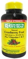 Image of Good 'N Natural - Cranberry Fruit plus Vitamins C and E - 100 Softgels