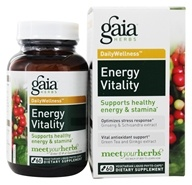 Image of Gaia Herbs - Energy & Vitality Liquid Phyto Capsules - 60 Vegetarian Capsules Contains Schisandra Berry