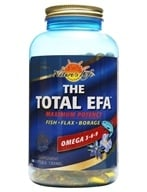 Health From The Sun - Omega 3 6 9 The Total EFA Maximum Potency 1395 mg. - 180 Softgels Formerly Double Action (010043062019)
