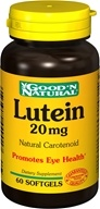 Good 'N Natural - Lutein 20 mg. - 60 Softgels - $9.43