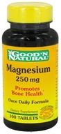 Good 'N Natural - Magnesium 250 mg. - 100 Tablets by Good 'N Natural