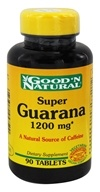 Good 'N Natural - Super Guarana Energy Formula 1200 mg. - 90 Tablets - $4.65