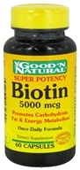 Good 'N Natural - Biotin Super Potency 5000 mcg. - 60 Capsules - $6.56