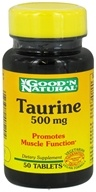 Good 'N Natural - Taurine 500 mg. - 50 Tablets - $2.38