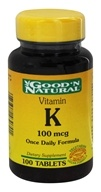 Good 'N Natural - Vitamin K 100 mcg. - 100 Tablets - $2.36