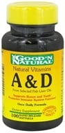 Good 'N Natural - Vitamins A & D - 100 Softgels, from category: Vitamins & Minerals