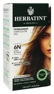 Herbatint - Herbal Haircolor Permanent Gel 6N Dark Blonde - 4.5 oz. (666248001058)