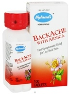 Hylands - Backache with Arnica - 100 Tablets - $8.04