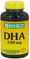 Good 'N Natural - DHA Rapid Release 100 mg. - 120 Softgels by Good 'N Natural
