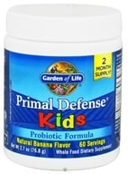 Garden of Life - Primal Defense Kids Powder Probiotic Formula Natural Banana - 2.7 oz.