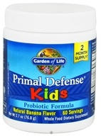 Image of Garden of Life - Primal Defense Kids Powder Probiotic Formula Natural Banana - 2.7 oz.