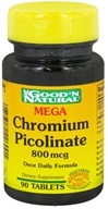 Good 'N Natural - Mega Chromium Picolinate 800 mcg. - 90 Tablets - $8.11