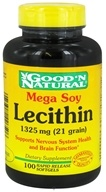 Good 'N Natural - Mega Soy Lecithin 1325 mg. - 100 Softgels - $4.85