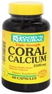 Good 'N Natural - Triple Strength Coral Calcium 1500 mg. - 60 Capsules - $10.80