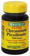 Image of Good 'N Natural - Ultra Chromium Picolinate 500 mcg. - 100 Tablets