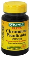 Good 'N Natural - Ultra Chromium Picolinate 500 mcg. - 100 Tablets (074312425707)