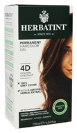 Herbatint - Herbal Haircolor Permanent Gel 4D Golden Chestnut - 4.5 oz. by Herbatint