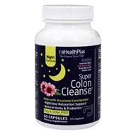 Health Plus - Super Colon Cleanse Night Formula 500 mg. - 90 Capsules, from category: Nutritional Supplements