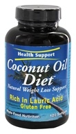 Health Support - Coconut Oil Diet Natural Weight Loss Support - 120 Softgels (800900122938)