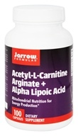 Jarrow Formulas - Acetyl L-Carnitine Arginate + Alpha Lipoic Acid - 100 Capsules, from category: Nutritional Supplements