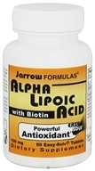 Image of Jarrow Formulas - Alpha Lipoic Acid with Biotin 100 mg. - 60 Tablets CLEARANCE PRICED