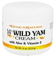 Good 'N Natural - 14% Wild Yam Cream with Aloe and Vitamin E - 4 oz., from category: Nutritional Supplements