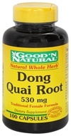Good 'N Natural - Dong Quai 530 mg. - 100 Capsules (074312451553)