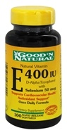 Good 'N Natural - Vitamin E With Selenium 400 IU - 100 Softgels