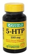 Good 'N Natural - 5-HTP L-5-Hydroxytryptophan 100 mg. - 60 Capsules, from category: Nutritional Supplements