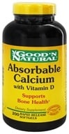 Good 'N Natural - Absorbable Calcium with Vitamin D - 200 Softgels (074312462740)