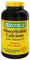 Good 'N Natural - Absorbable Calcium with Vitamin D - 200 Softgels by Good 'N Natural