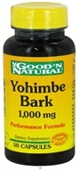 Good 'N Natural - Yohimbe Bark Performance Formula 1000 mg. - 50 Capsules - $4.71