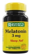 Good 'N Natural - Melatonin 3 mg. - 60 Tablets - $2.90