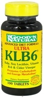 Good 'N Natural - Ultra KLB6 Kelp Lecithin Vitamin B-6 & Cider Vinegar - 100 Tablets - $3.39
