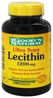 Good 'N Natural - Ultra Soya Lecithin 1200 mg. - 100 Softgels Formerly 19 grain (074312403002)
